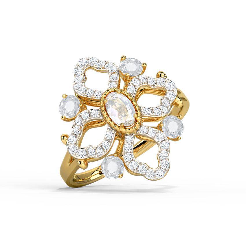 Diamond,Gemstone Rings 18 Karat Yellow Gold Catherine Diamond Ring