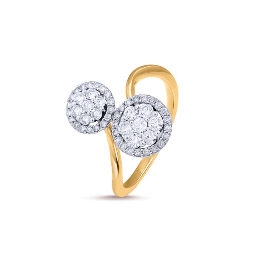 Diamond Rings 18 Karat Yellow Gold Forever Cluster Ring