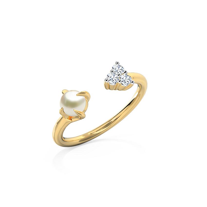 Pearl Spade Ring