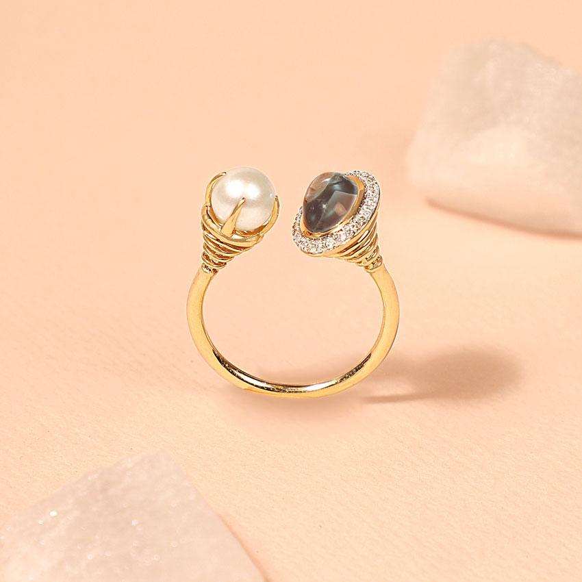 Halo Topaz Ring