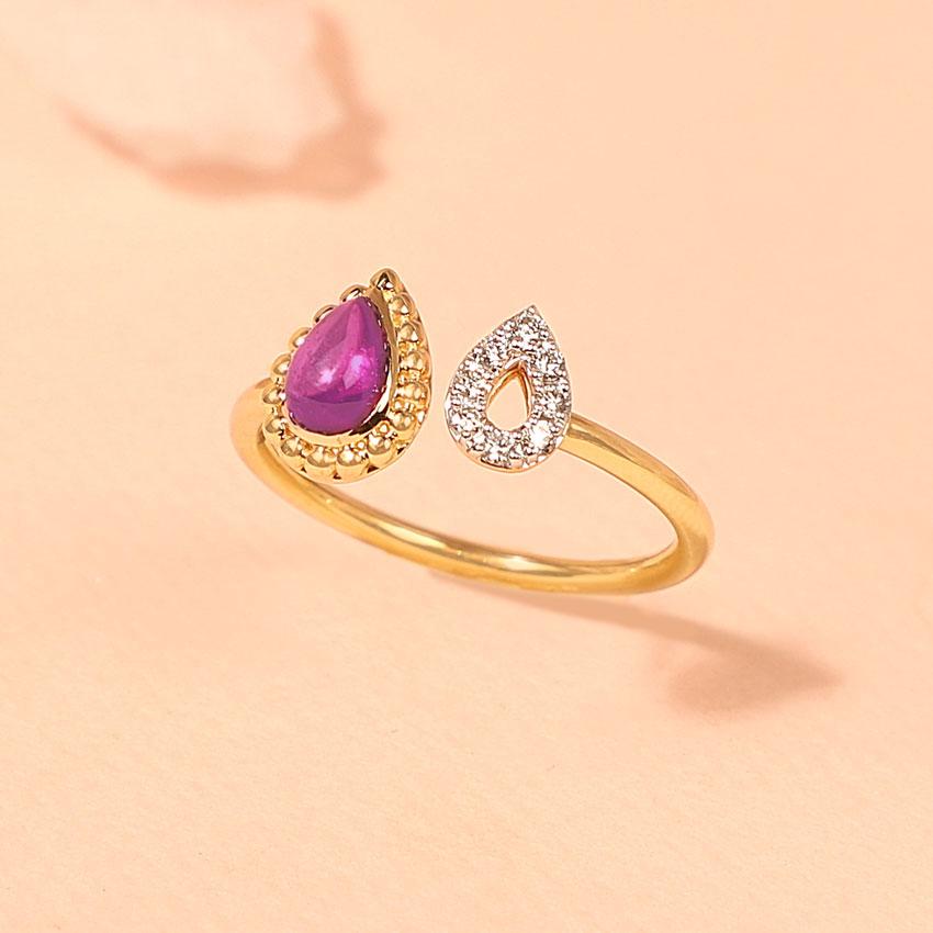 Scarlet Drop Ring