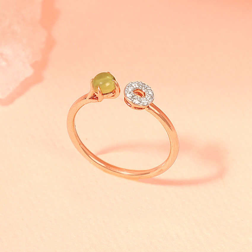 Peridot Orb Ring