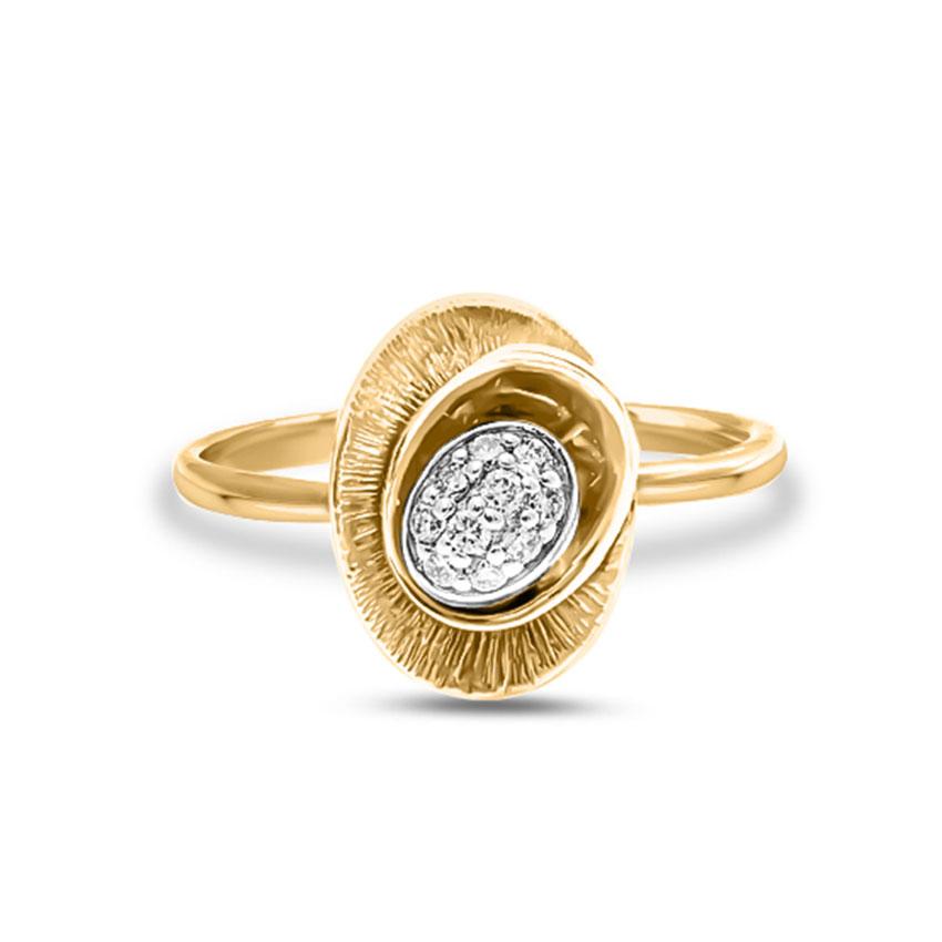 Diamond Rings 18 Karat Yellow Gold Rachel Flare Diamond Ring