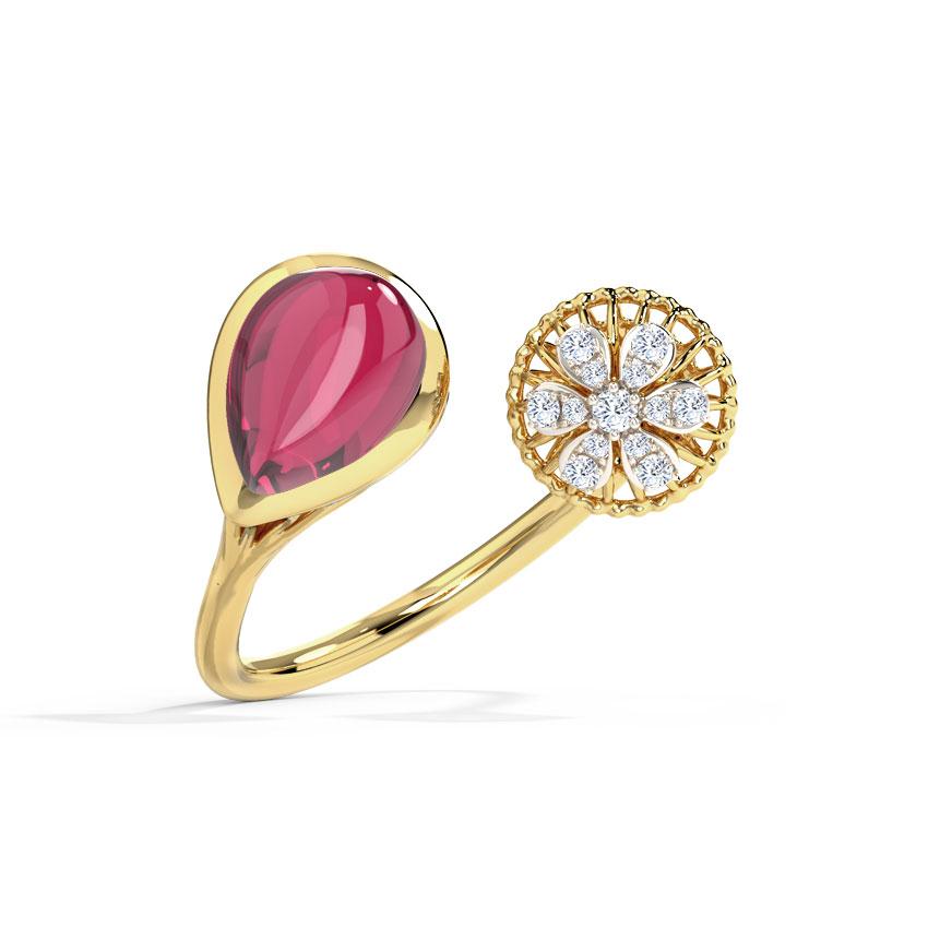Scarlet Bloom Ring