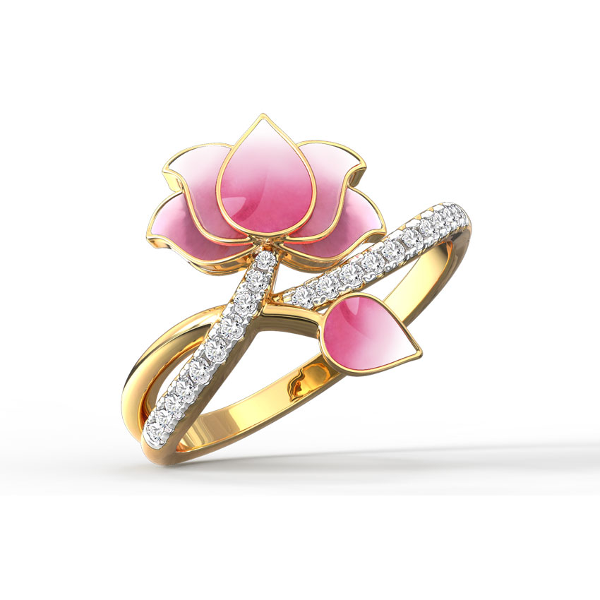 Intertwine Lotus Ring