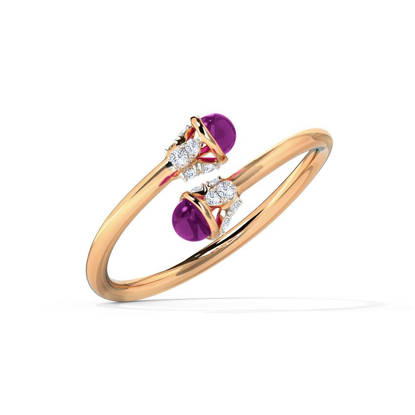 Diamond,Gemstone Rings 14 Karat Rose Gold Twain Blush Diamond Ring