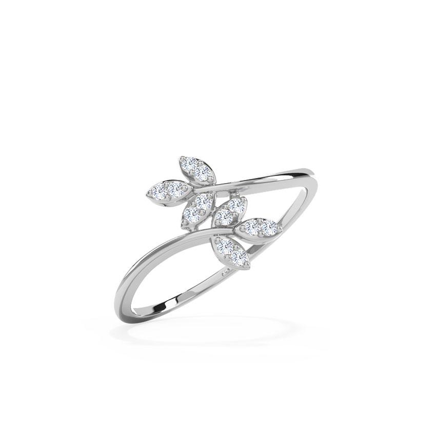Platinum,Diamond Rings Platinum 950 Platinum Glow Petals Platinum Ring
