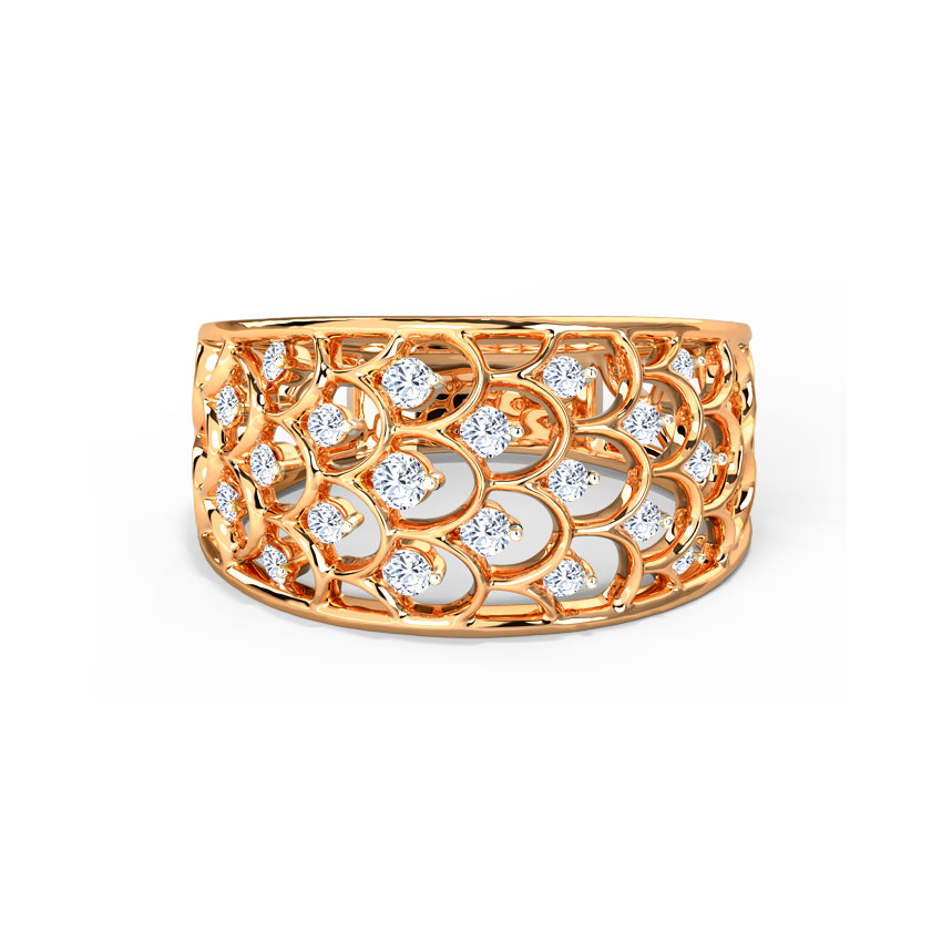 Glinting Curvy Ring