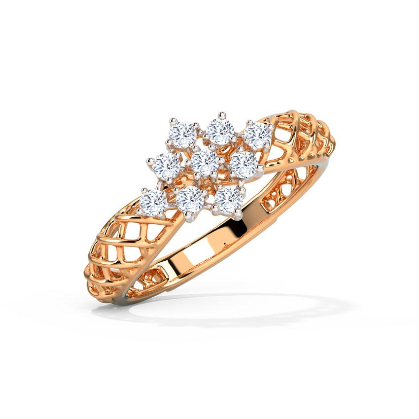 Florid Mesh Ring