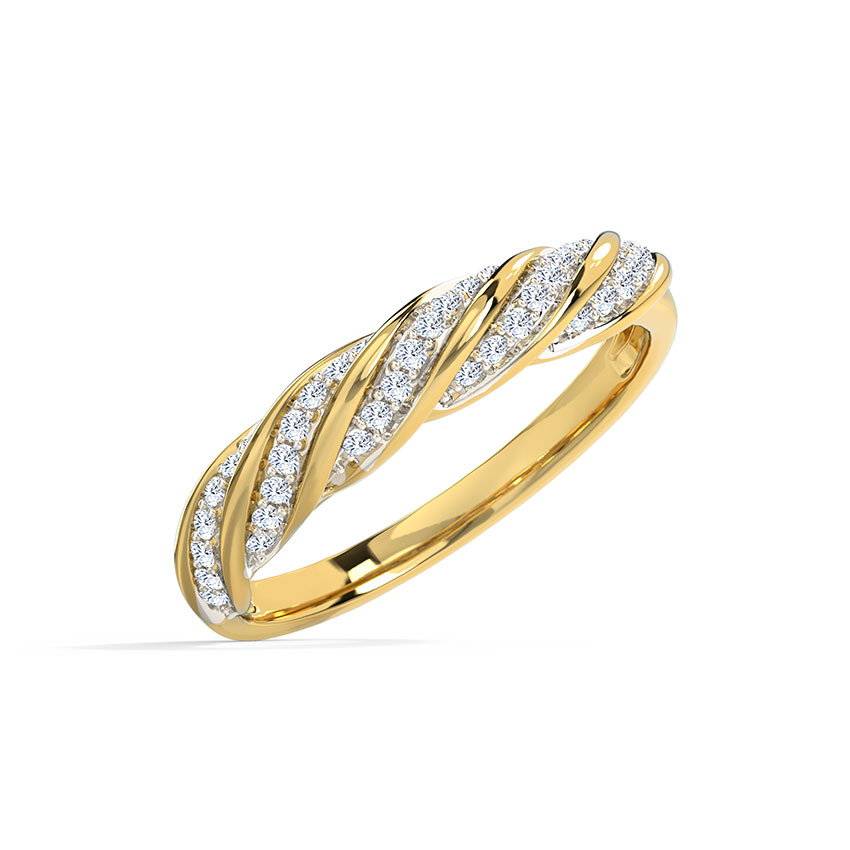 Twisted Diamond Band