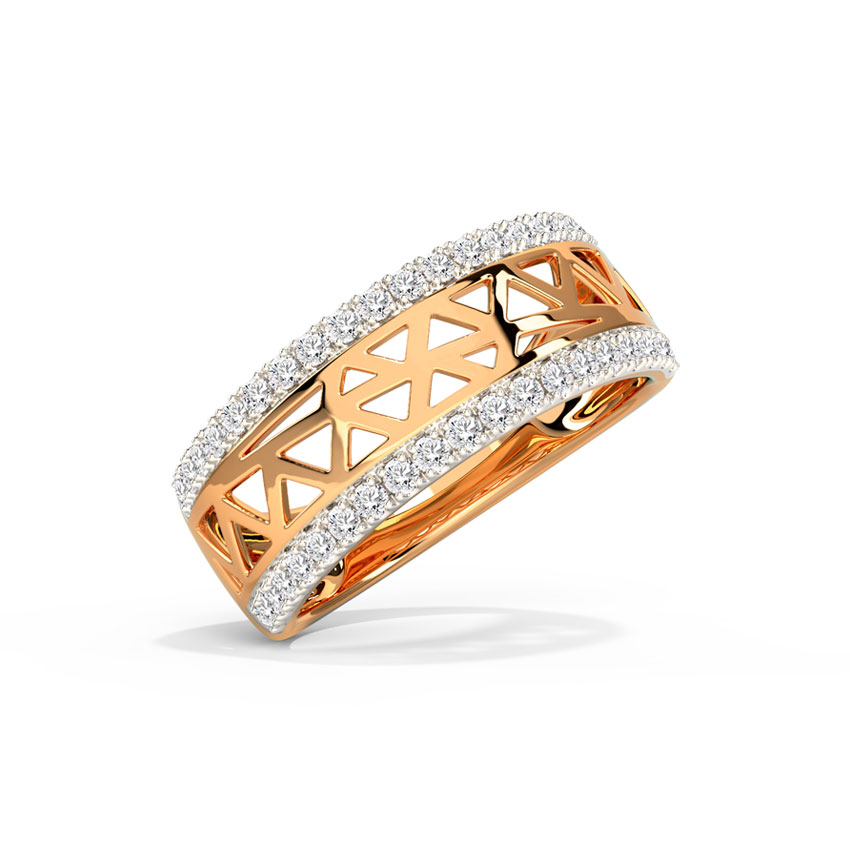 Trigon Cutout Diamond Band
