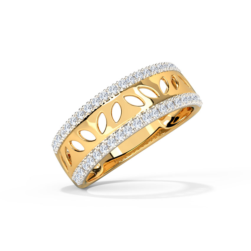 Petals Cutout Diamond Band