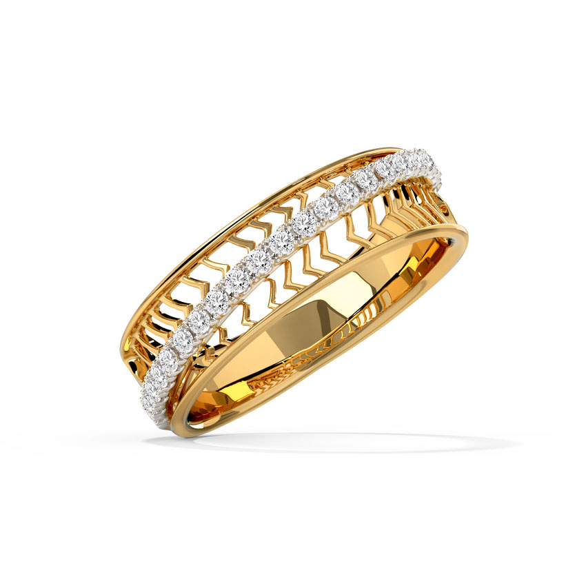 Zigzag Cutout Diamond Band