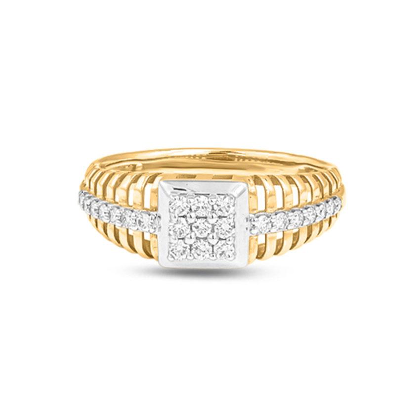Diamond Rings 14 Karat Yellow Gold Sameer Men's Ring