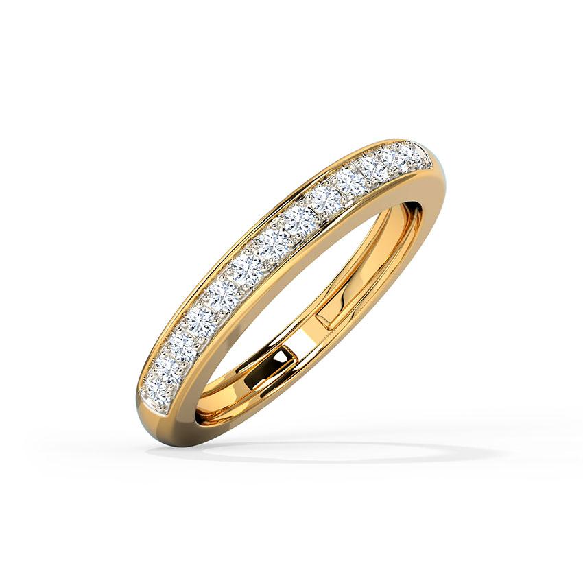 Diamond Rings 14 Karat Yellow Gold Sleek Adjustable Diamond Ring