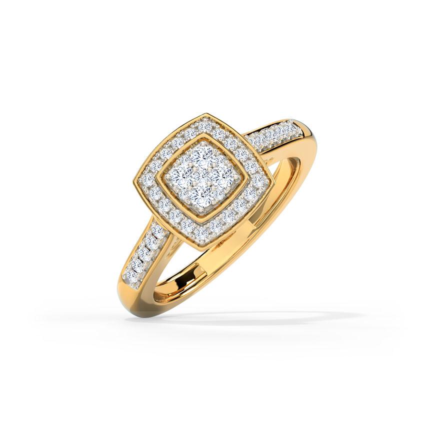 Diamond Rings 14 Karat Yellow Gold Glow Adjustable Diamond Ring