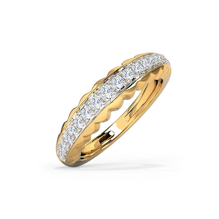 Diamond Rings 14 Karat Yellow Gold Journey Adjustable Diamond Ring