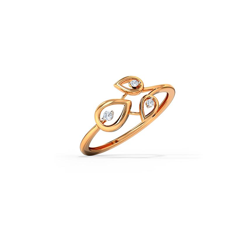Delicate Triad Ring