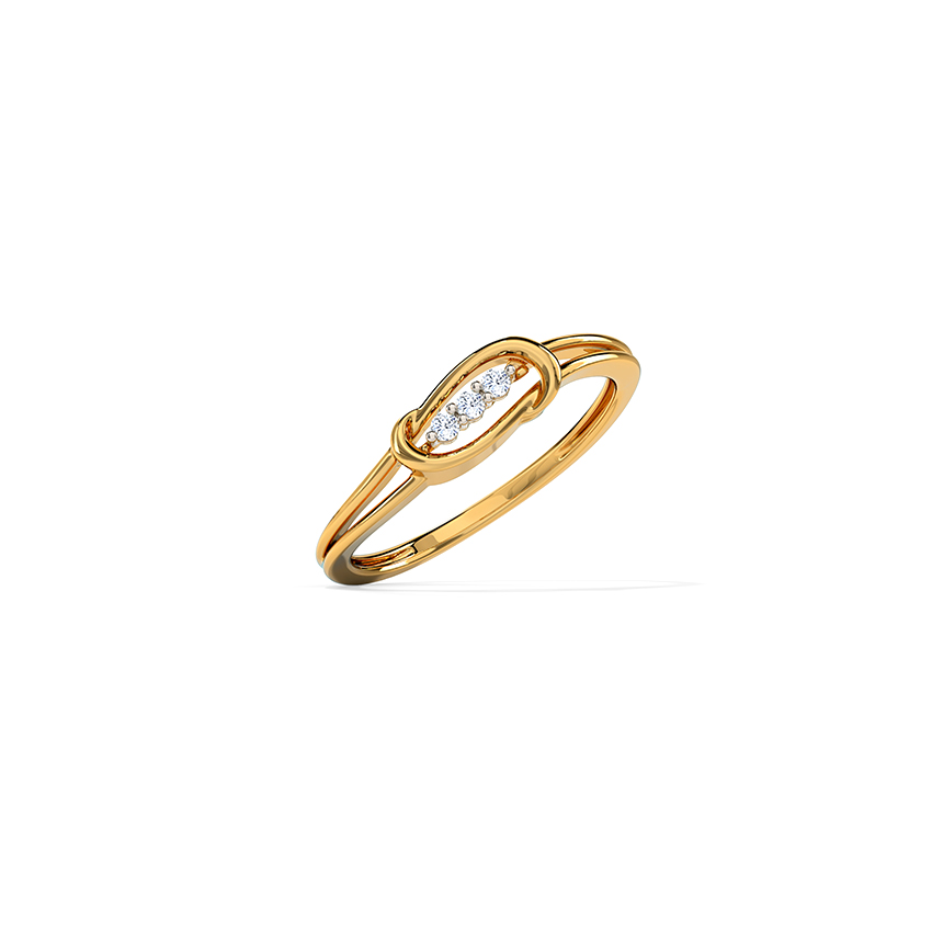 Sleek Interlaced Ring