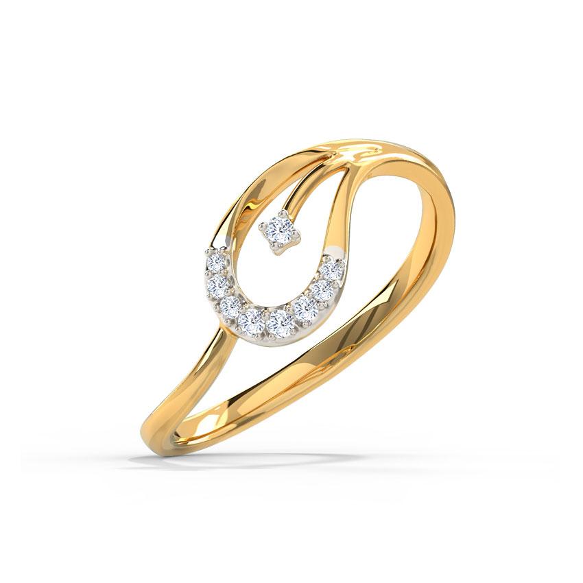 Sleek Paisley Ring