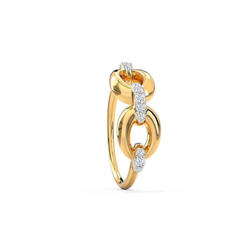Diamond Rings 14 Karat Yellow Gold Get Groovy Diamond Ring