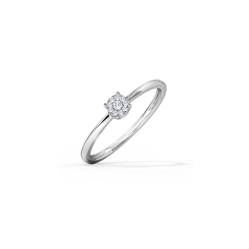 Diamond Rings 14 Karat White Gold Zivah Diamond Ring