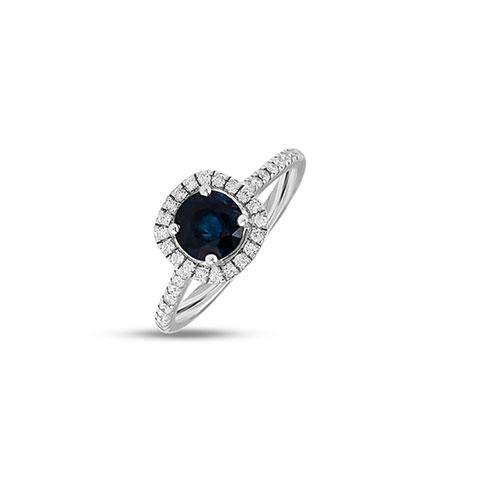 Diamond,Gemstone Rings 18 Karat Rose Gold Deena Gemstone Ring