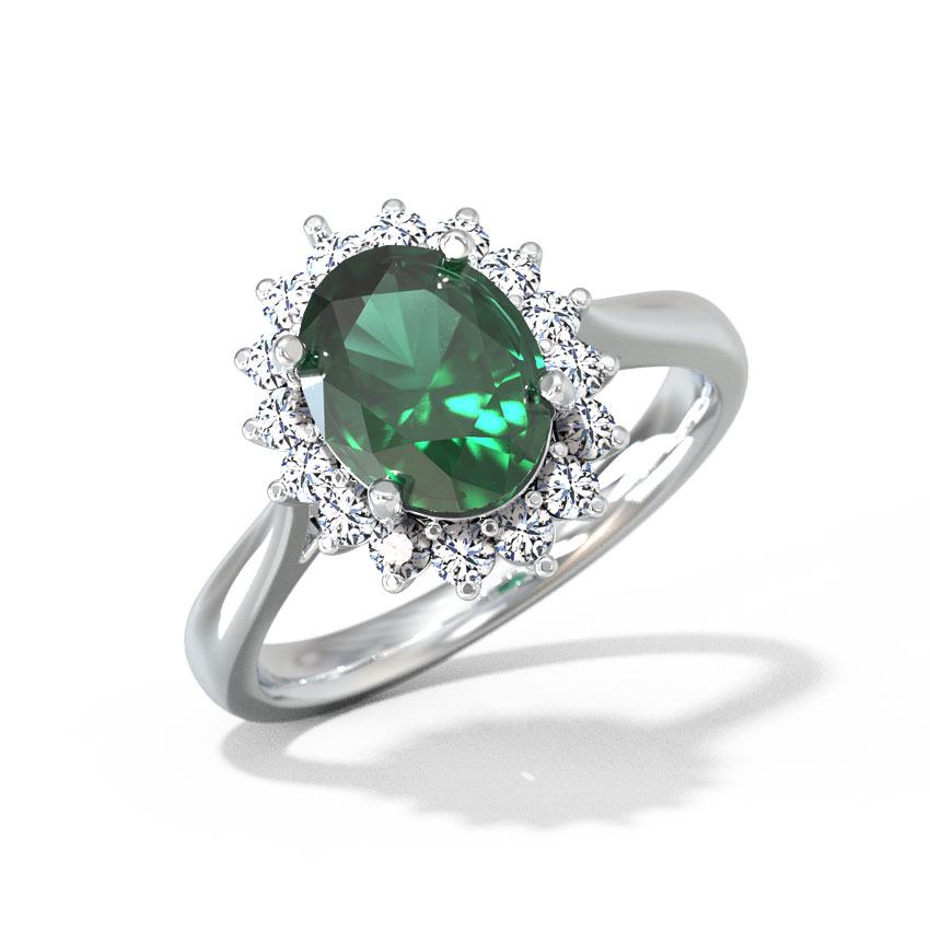 Diamond,Gemstone Rings 18 Karat Yellow Gold Alba Diamond Ring