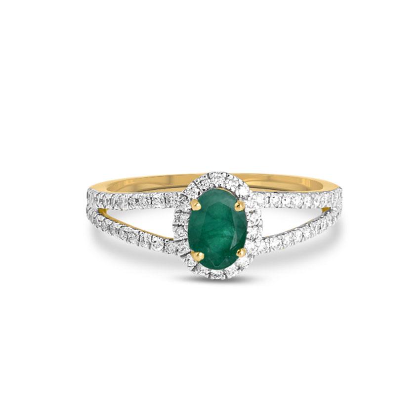 Diamond,Gemstone Rings 18 Karat Rose Gold Stacey Diamond Ring