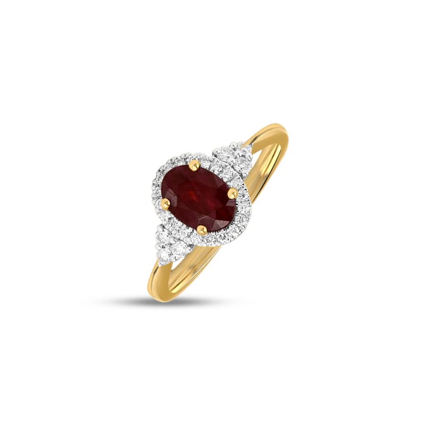Diamond,Gemstone Rings 18 Karat Rose Gold Nasya Diamond Ring