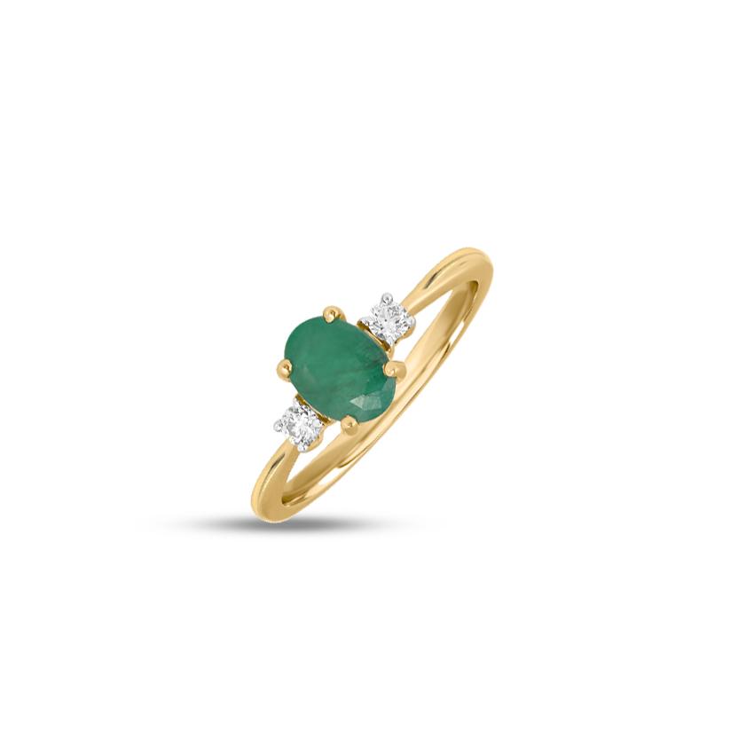 Diamond,Gemstone Rings 18 Karat Yellow Gold Alisha Gemstone Ring