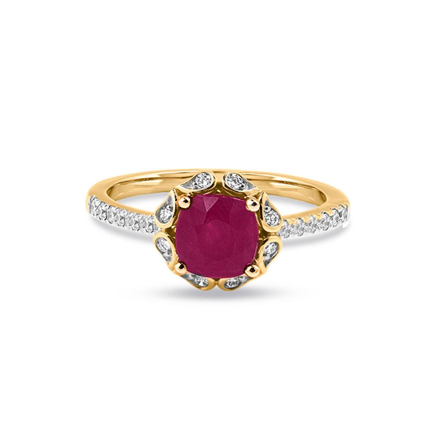 Diamond,Gemstone Rings 18 Karat Yellow Gold Casey Gemstone Ring