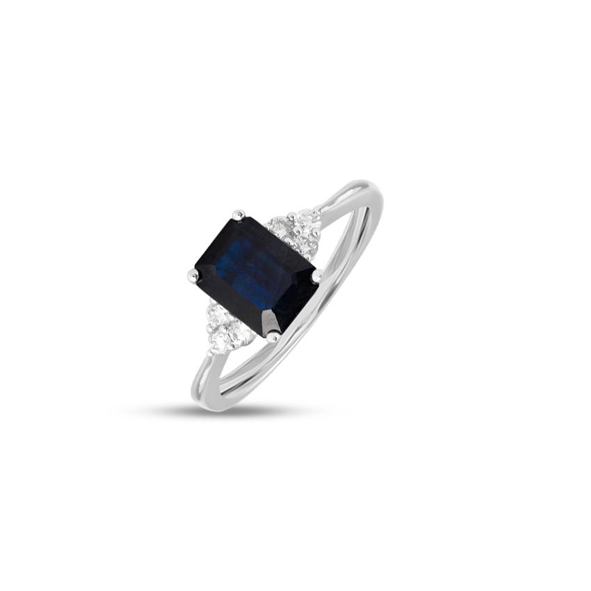 Diamond,Gemstone Rings 18 Karat Rose Gold Brice Gemstone Ring