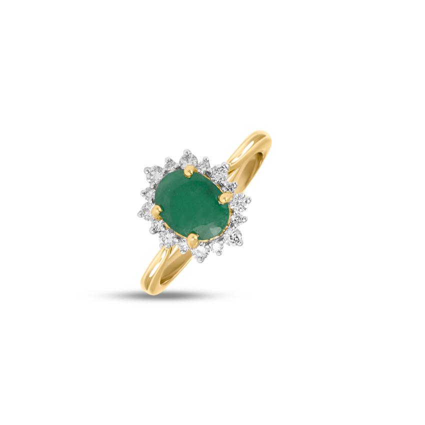 Diamond,Gemstone Rings 18 Karat Yellow Gold Ethna Gemstone Ring