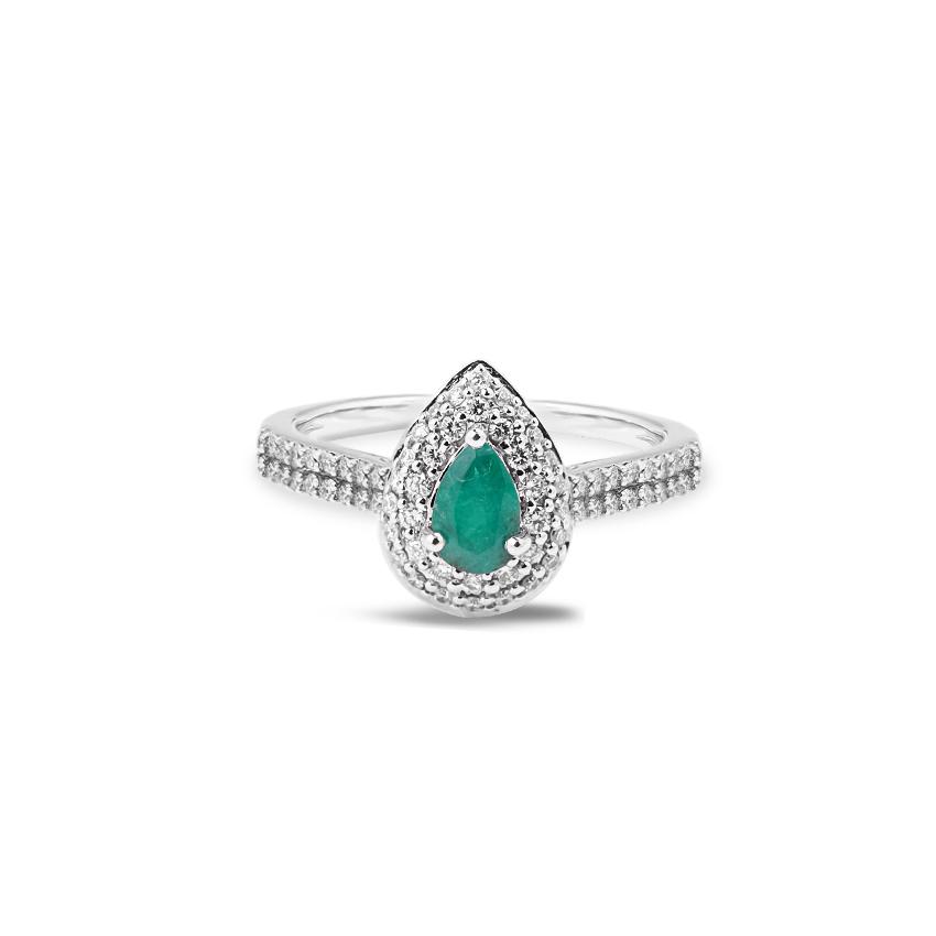 Diamond,Gemstone Rings 18 Karat Rose Gold Kate Diamond Band