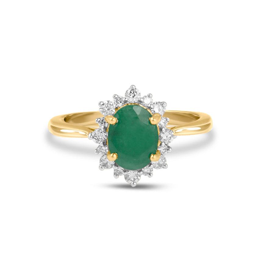 Diamond Rings 18 Karat Yellow Gold Paula Gemstone Ring
