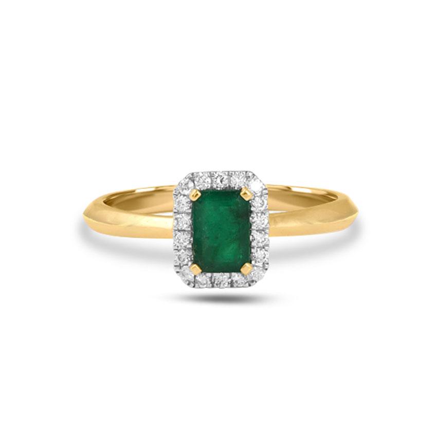 Diamond Rings 18 Karat Yellow Gold Nally Gemstone Ring
