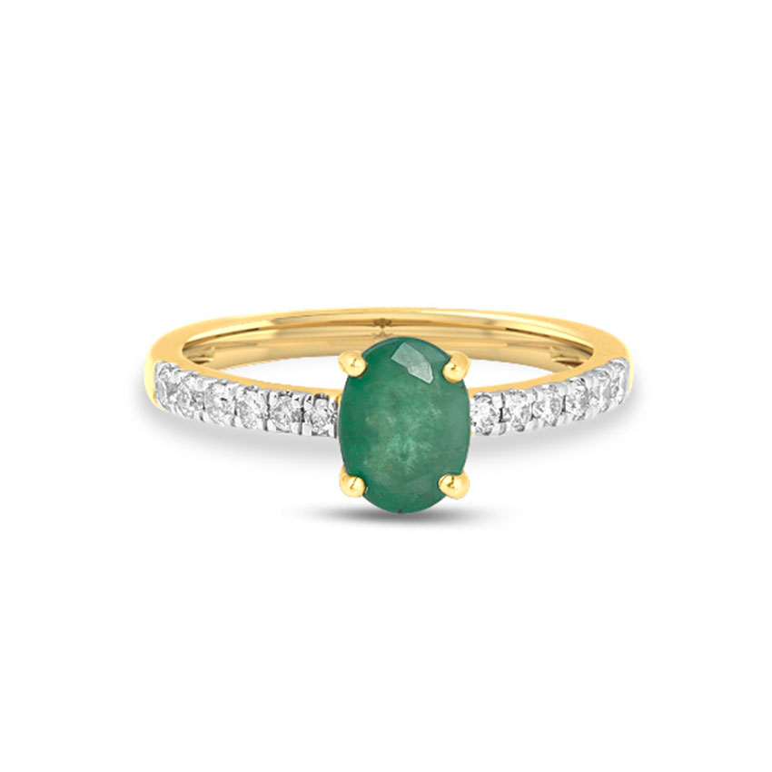 Diamond Rings 18 Karat Yellow Gold Naomi Diamond Ring