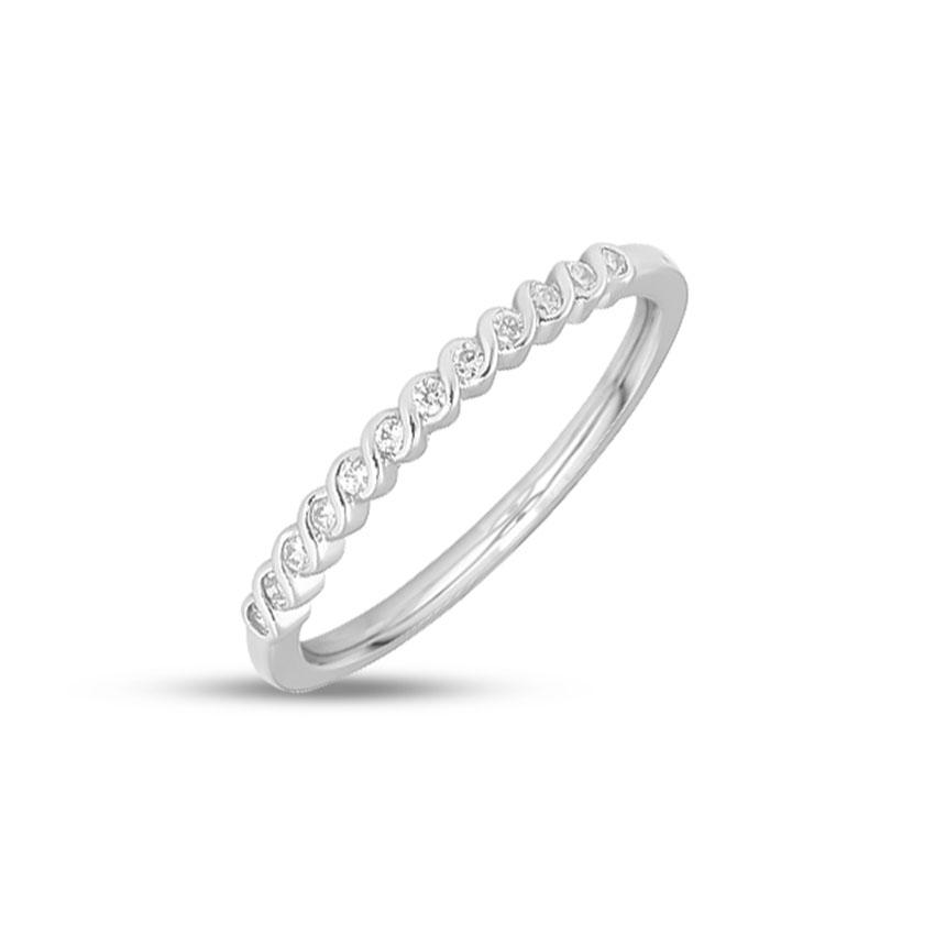 Diamond Rings 14 Karat White Gold Twine Shine Ring
