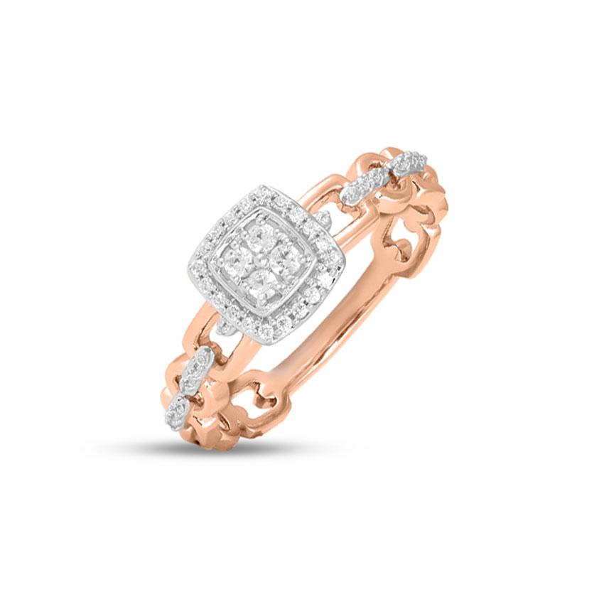 Diamond Rings 14 Karat Rose Gold Casey Promise Diamond Ring