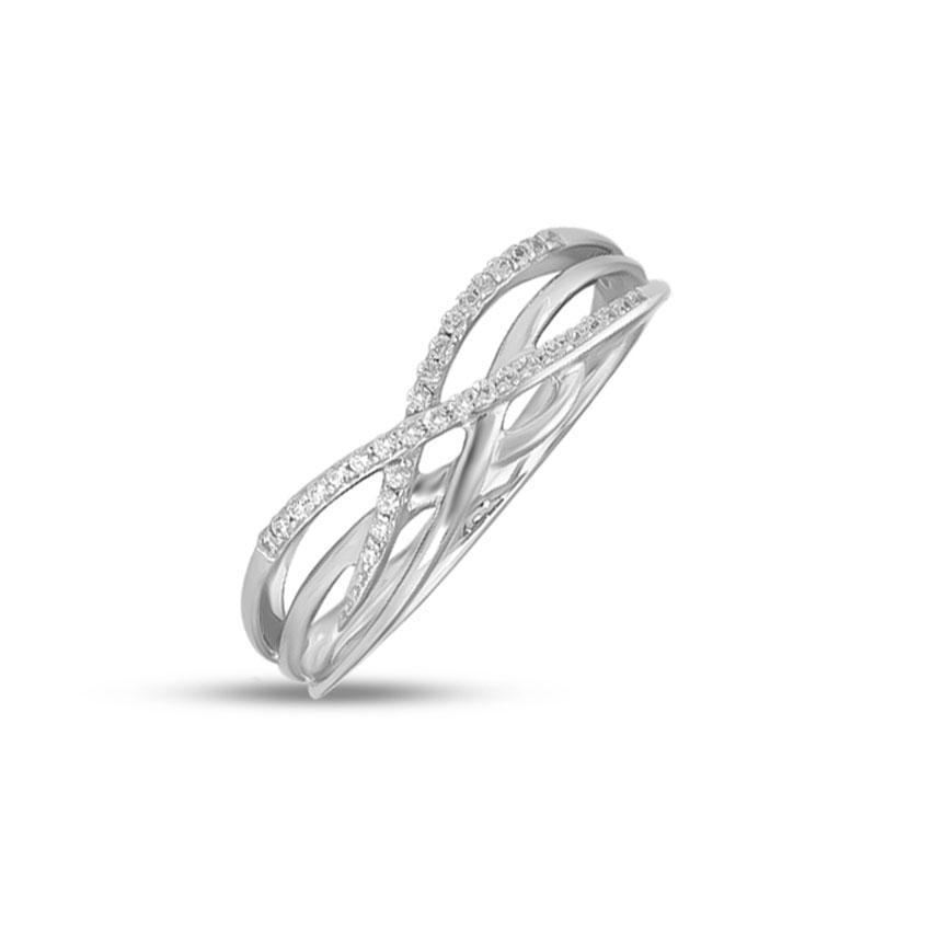 Diamond Rings 14 Karat White Gold Twine Diamond Ring