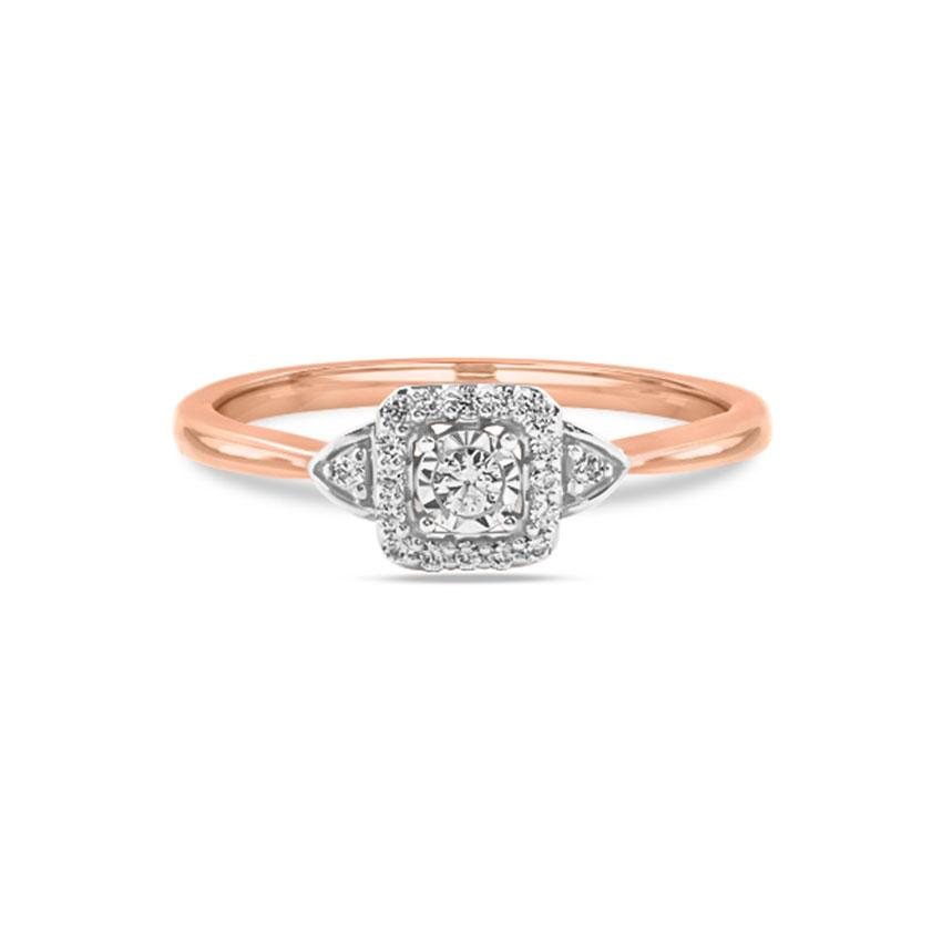 Diamond Rings 14 Karat Rose Gold Shanice Promise Diamond Ring