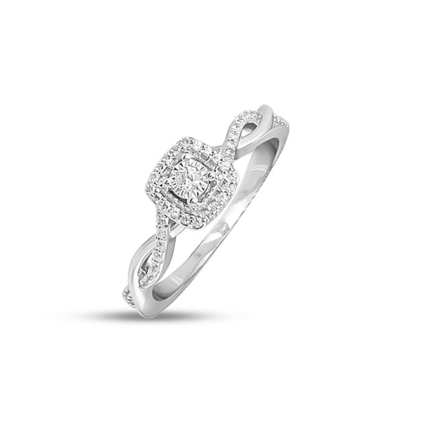 Diamond Rings 14 Karat White Gold Nysa Promise Diamond Ring