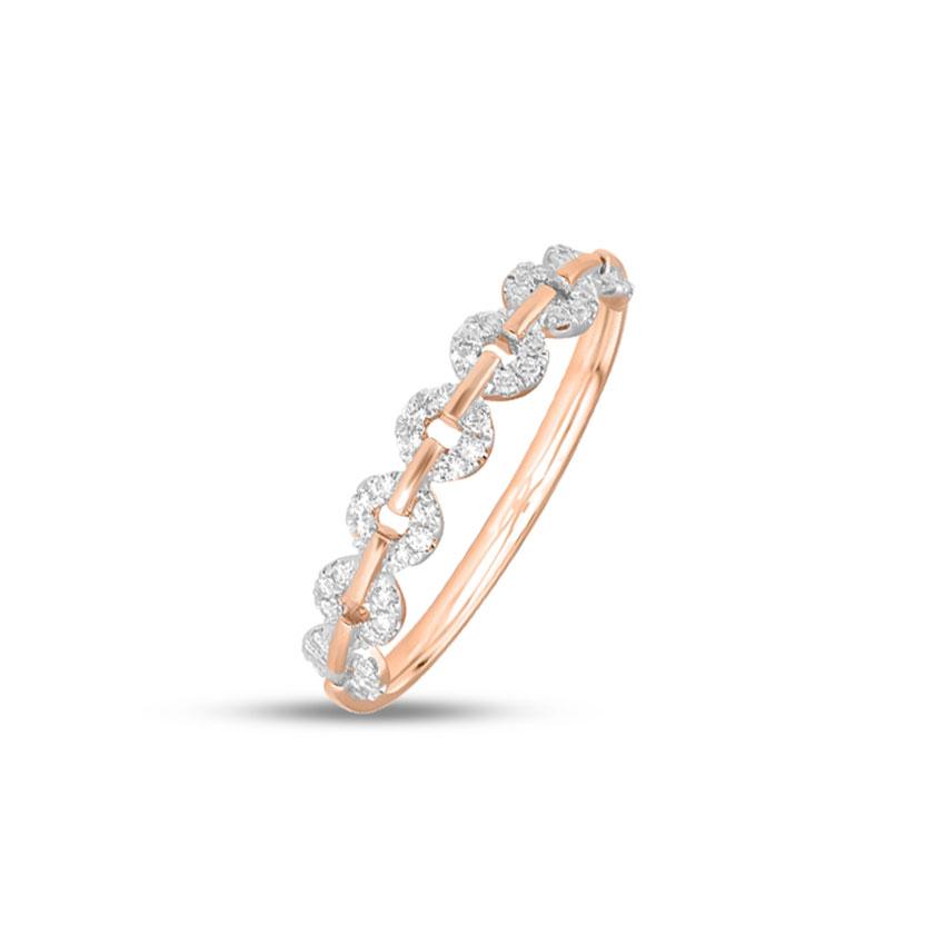 Diamond Rings 14 Karat Rose Gold Emily Stackable Diamond Ring