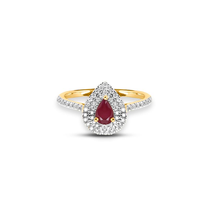 Diamond,Gemstone Rings 18 Karat Yellow Gold Estelle Diamond Ring