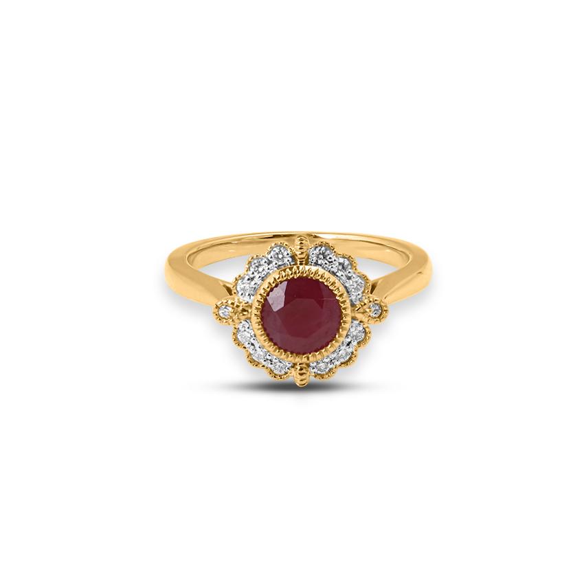Diamond,Gemstone Rings 18 Karat Rose Gold Jenna Diamond Band