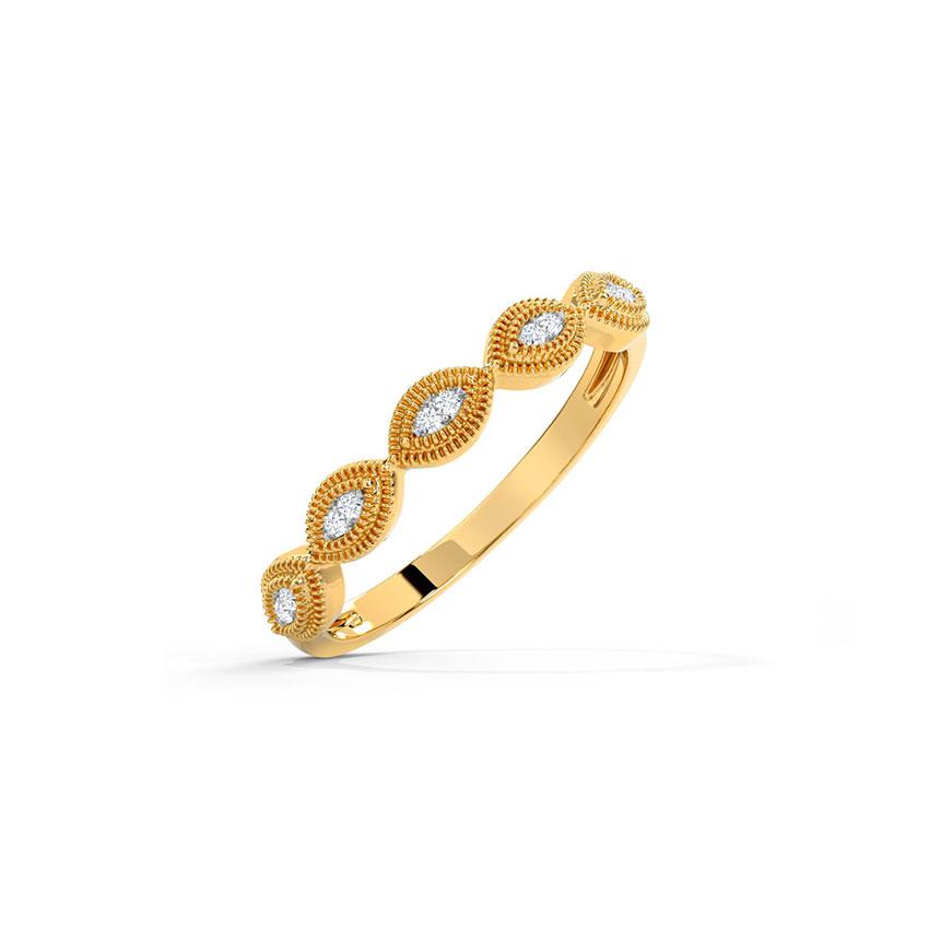 Diamond Rings 14 Karat Yellow Gold Ele Glorious Diamond Band