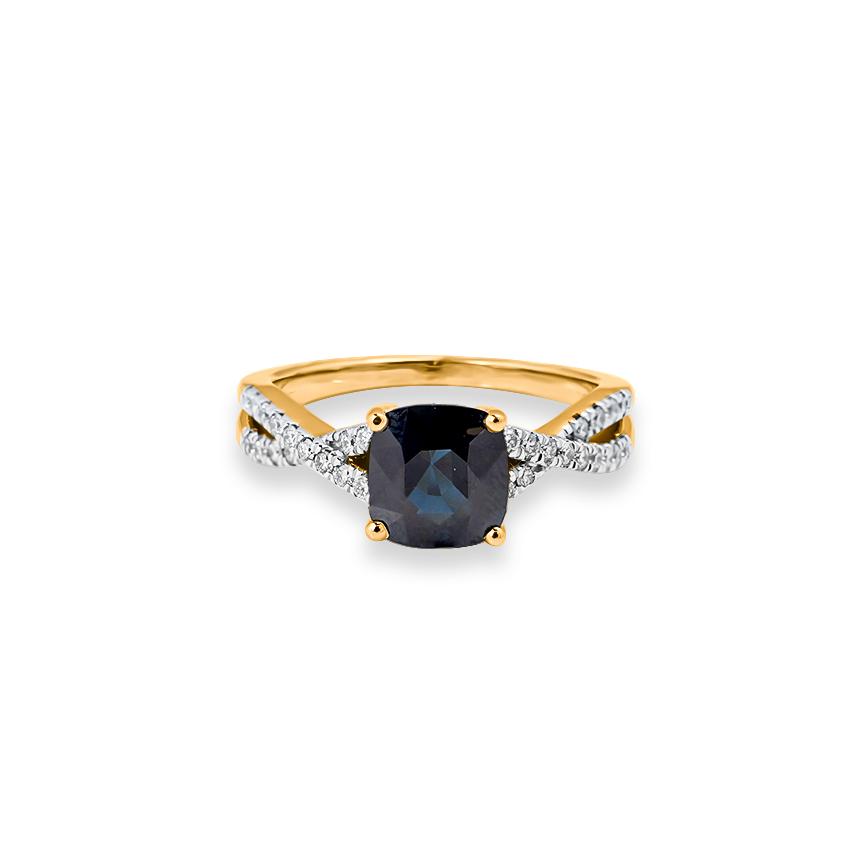 Diamond,Gemstone Rings 18 Karat Yellow Gold Ivy Gemstone Ring