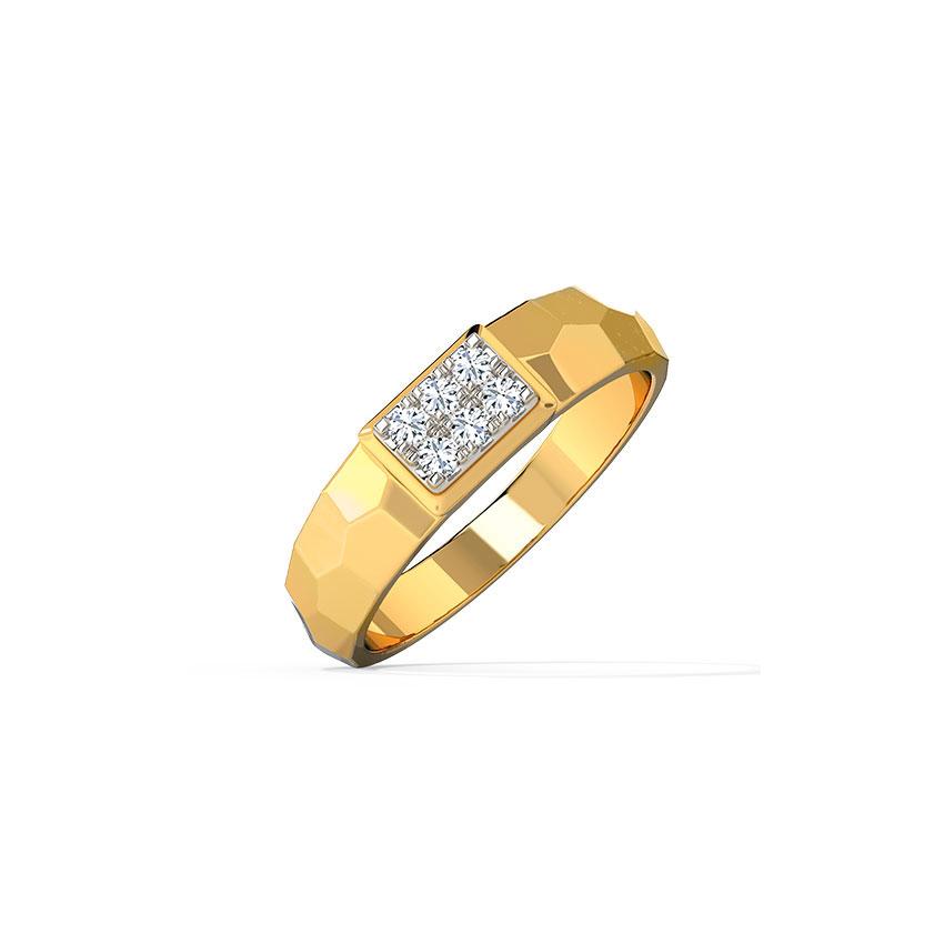 Diamond Rings 14 Karat Yellow Gold Berty Diamond Ring for Men