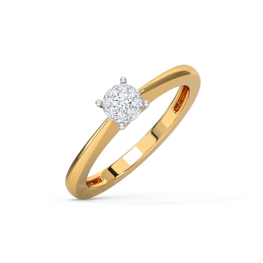 Diamond Rings 14 Karat Yellow Gold Galina Diamond Ring
